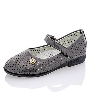 Туфли летние для девочек Yalike 22  платина 63-50