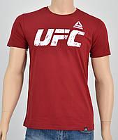 Мужская футболка UFC Reebok(реплика) бордо