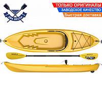 Корпусный каяк SF-1010 одноместный + весло, sit-on-top, HDPE-RM, желтый, 266 см