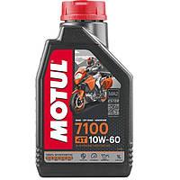 Масло для 4-х тактных двигателей 100% синтетическое эстеровое MOTUL 7100 4T SAE 10W60 1л. 104100/845511