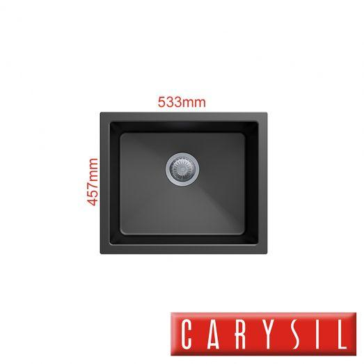 Гранитная кухонная мойка Carysil Salsa Black Single Bowl Granite Kitchen Sink 533*457mm