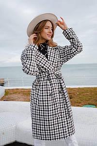 Женское модное пальто в расцветках. ЕД-8-0320