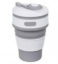 Чашка складная силиконовая Collapsible 5332 350мл, серая