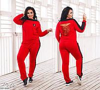 Стильный женский спортивный костюм с разрезами размеры 50-56 арт 0376