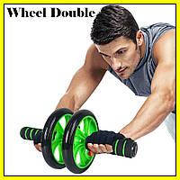 Колесо для пресса двойное | Фитнес колесо Double wheel | Ролик для пресса | Йога колесо
