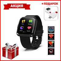 Умные часы c ПУЛЬСОКСИМЕТРОМ Smart Watch Смарт часы Y7P + Беспроводное зарядное устройство для Watch в ПОДАРОК