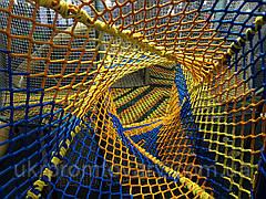 Гладиаторская лазание лазить игровой элемент сетка веревочная Канатная сетка производство