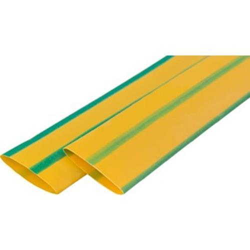Термоусадочная трубка ТТУ 10/5 желто-зеленая 100 м/рол IEK (UDRS-D10-100-K52)