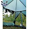 Кемпинговый тент-шатер Mosquito Green 3.5x4.7x2.25 м, 2 входа, 9,5 кг, без дна, есть юбка, 6-ти-гранный, фото 4