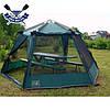 Кемпинговый тент-шатер Mosquito Green 3.5x4.7x2.25 м, 2 входа, 9,5 кг, без дна, есть юбка, 6-ти-гранный, фото 5