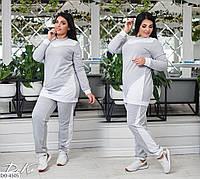 Удобный женский спортивный костюм с туникой размеры батал 50-56 арт 0361