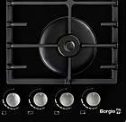 Варочная поверхность газовая BORGIO 6190-15 (Black Glass) FFD, фото 4