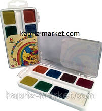 """Фарби акварельні медові"""" Карамелька"""", 8 кольорів"""
