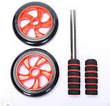 Колесо для преса подвійне   Фітнес колесо Double wheel   Ролик для преса   Йога колесо, фото 6
