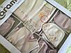 Набор для новорождённого с пледом и слюнявчиком, фото 3