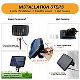 Светодиодный винтажный светильник-гирлянда  G40 на солнечной батарее 25 ламп, фото 5