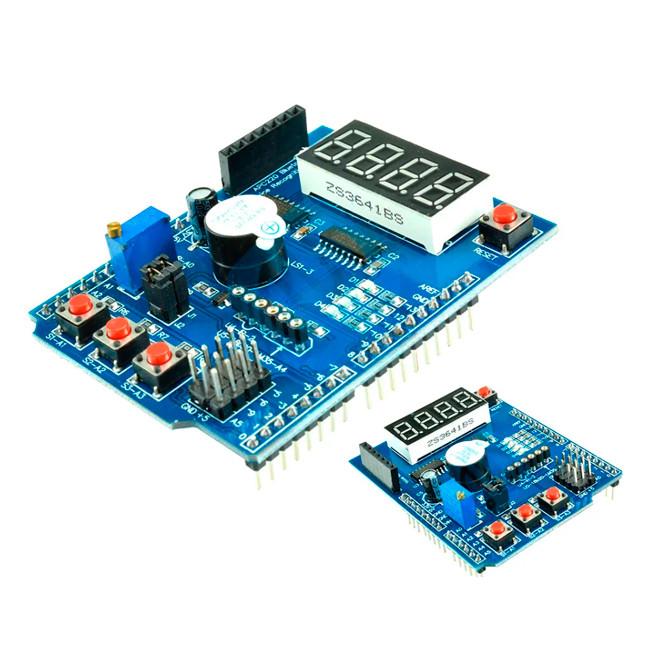 Многофункциональная обучающая плата для Arduino - Multifunction Shield For Arduino 2019 v 2.3