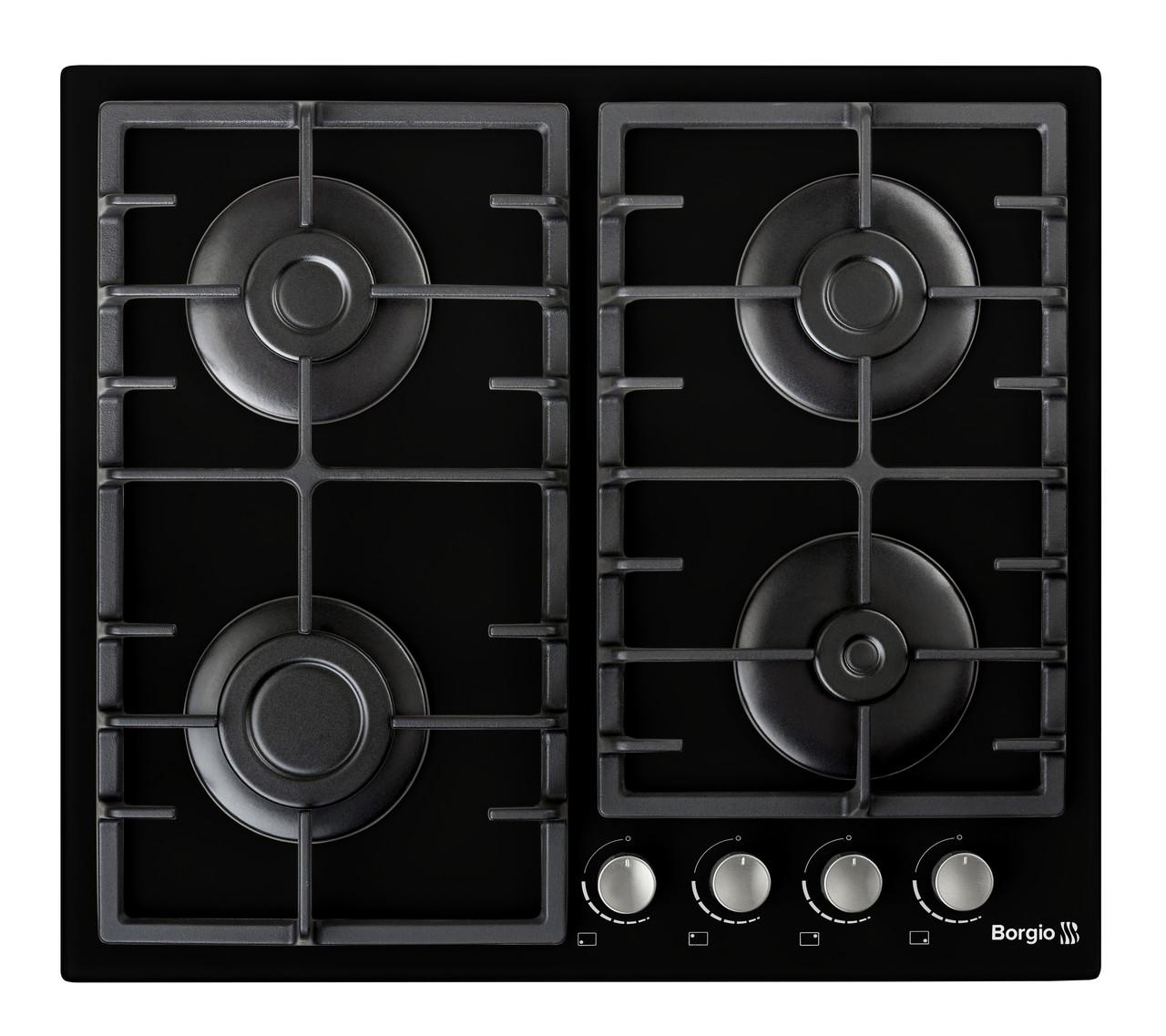 Варочная поверхность газовая BORGIO 6190-15 (Black Glass)
