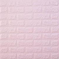 Самоклеющаяся декоративная 3D панель для стен под Кирпич светло фиолетовый