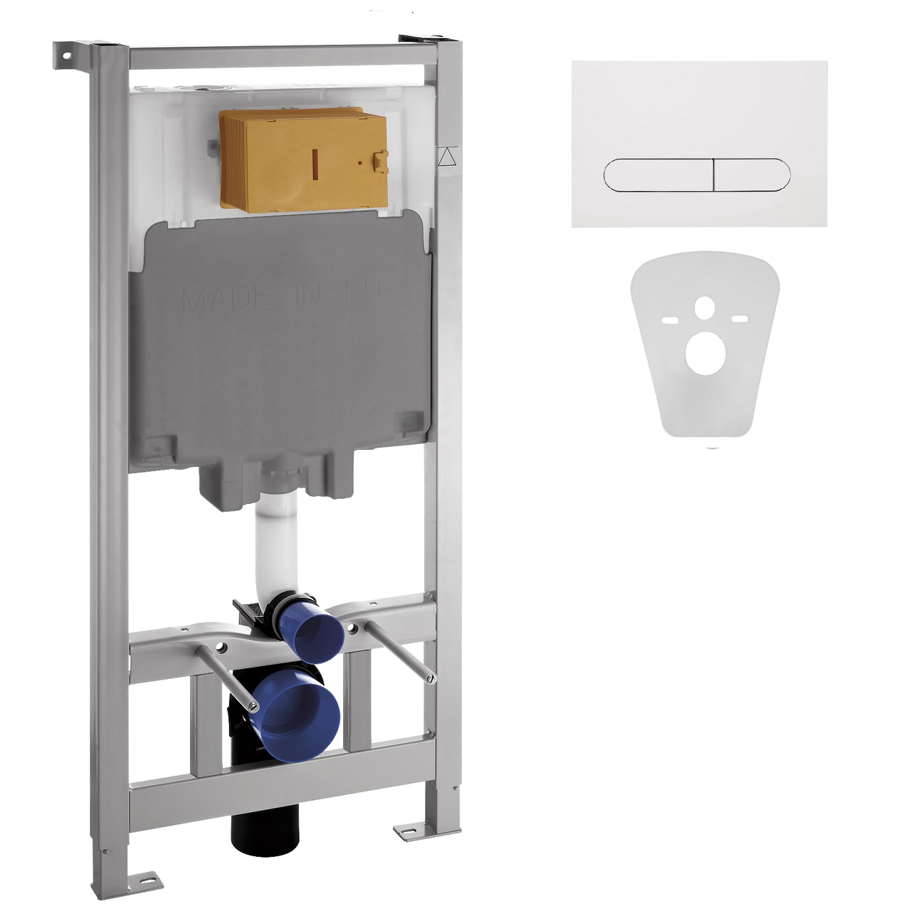Инсталяция для подвесных унитазов VOLLE MASTER 4в1 c белой клавишей