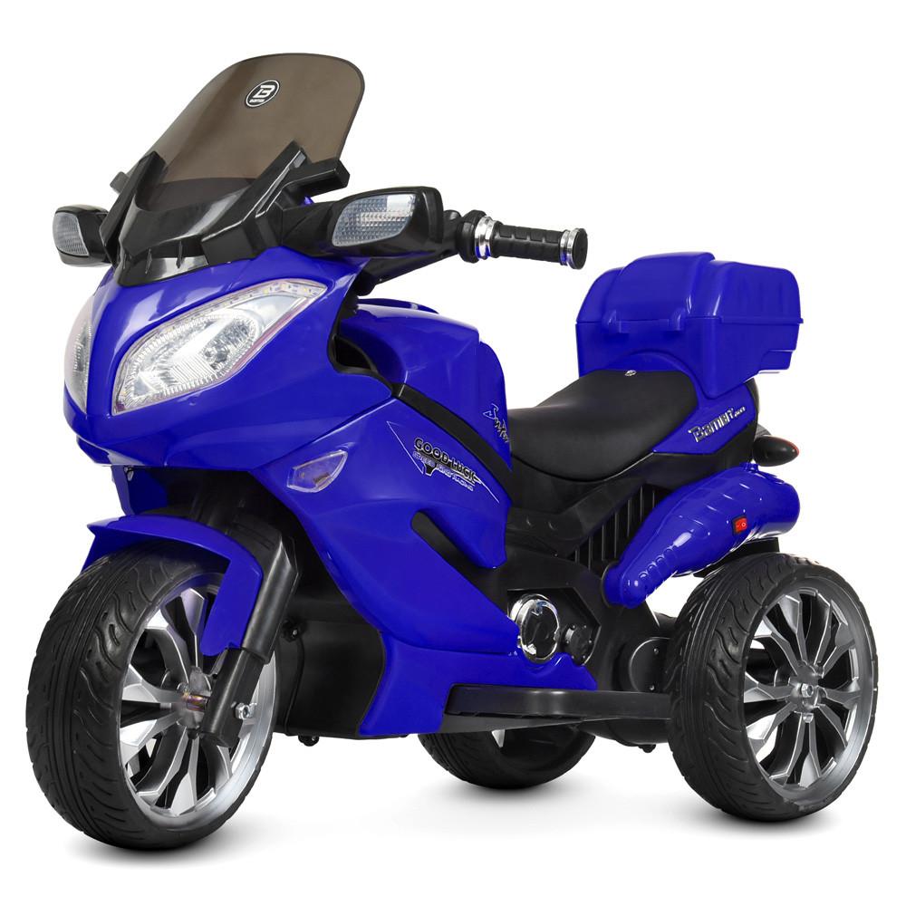 Детский электромобиль мотоцикл трицикл Bambi M 4204EBLR-4 Suzuki синий
