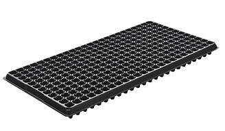 Кассеты под рассаду 28х54см 288 ячеек, 2х2х3,5см 0,8мм толщина черные