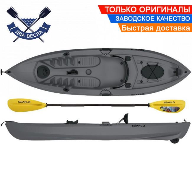 Корпусний каяк для риболовлі SF-1007 одномісний + весло, sit-on-top, HDPE-RM, сірий, 305 см