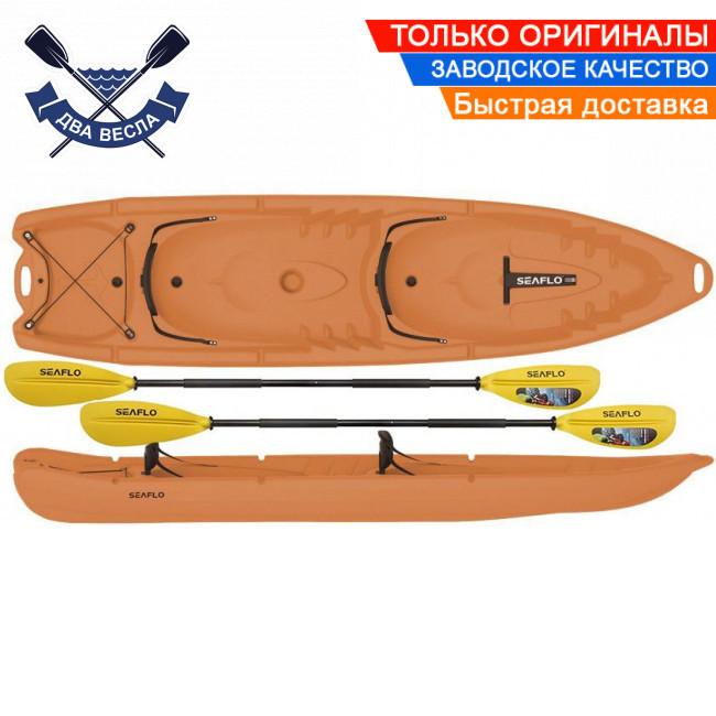 Корпусний каяк SF-4001 чотиримісний + 2 весла, sit-on-top, HDPE-RM, помаранчевий, 340 см