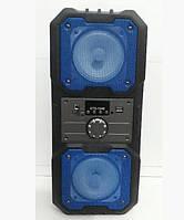 Портативная Bluetooth колонка с пультом KTS-1048, синяя