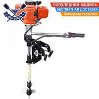 Бензиновый лодочный мотор УРАЛМАШ МЛП 5242 двухтактный подвесной, 2,6 кВт, 3,53 л.с.