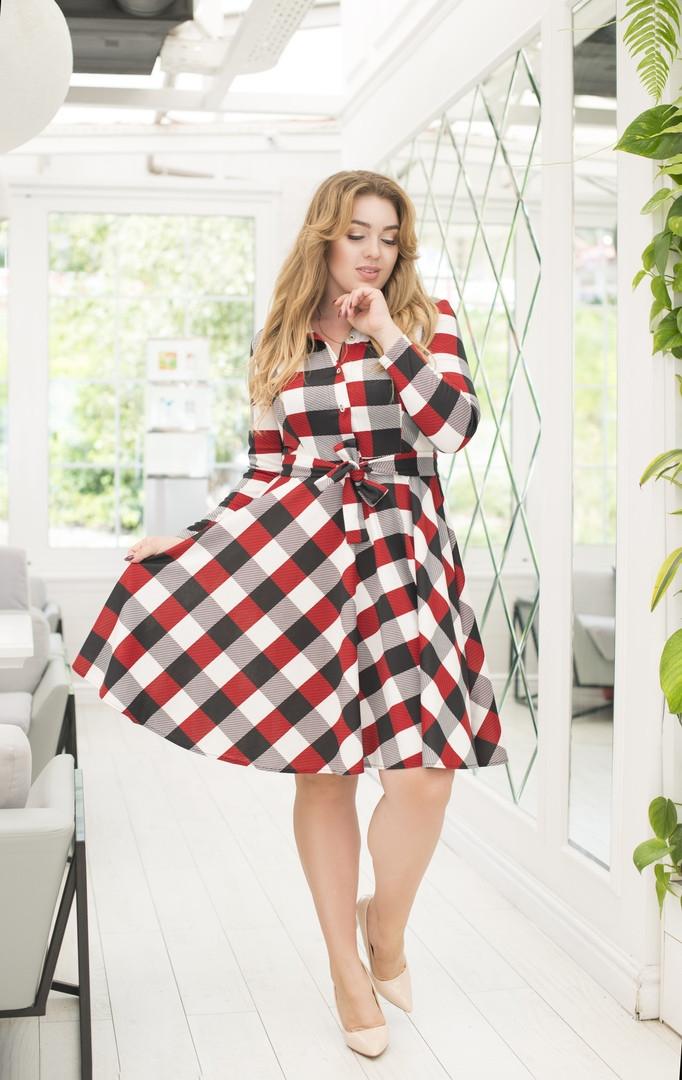 Стильне плаття в клітку великі розміри