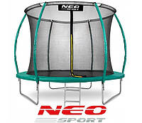 Батут NeoSport 312 см із захисною сіткою і драбиною для дітей та дорослих, фото 1