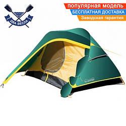 Легкая палатка Colibri (V2) двухместная 2-слойная 260х222х212 см, 2 входа, 3,2 кг, 2 тамбура, есть пол