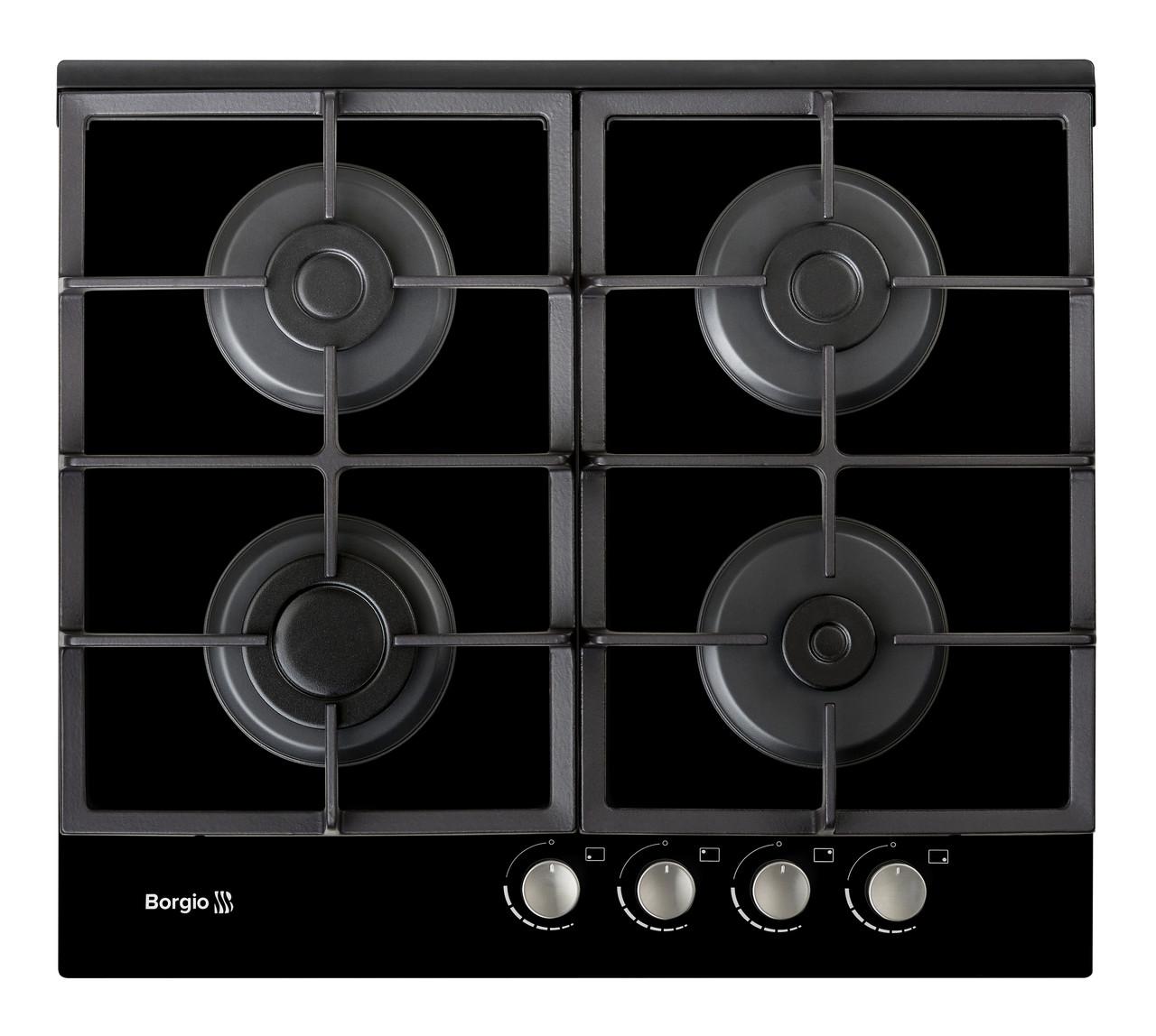 Варильна поверхня газова BORGIO 6270-17 (Black Glass)
