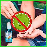 Антисептик против вирусов и бактерий для рук Equate 50мл, защита на 99,9%, фото 4