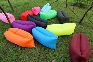 Надувной лежак-мешок Lamzac (Ламзак) Good Take с карманом 2.35м желтый, фото 3