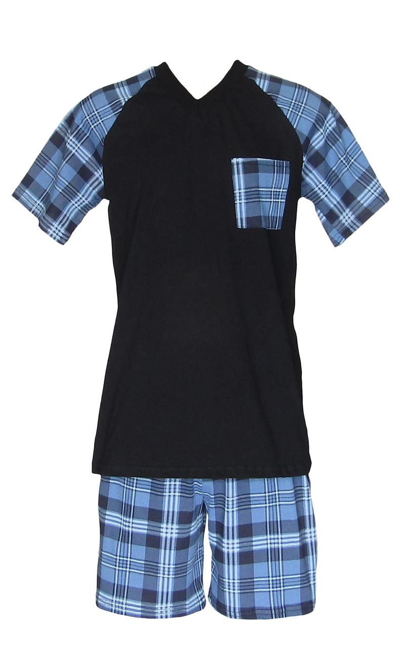 Комплект домашний мужской для сна и дома 20014 Tom коттон Темно-синий с голубым