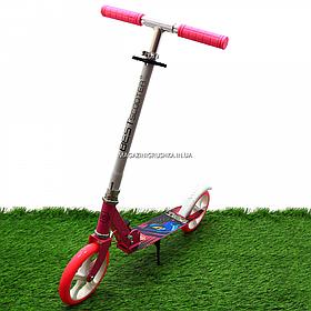 Самокат двухколёсный Best Scooter розовый, колеса PU - 200 мм (54701)