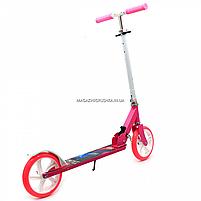 Самокат двухколёсный Best Scooter розовый, колеса PU - 200 мм (54701), фото 2