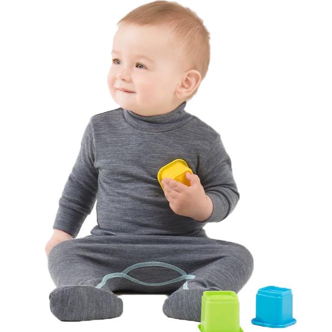 Термоползунки детские NORVEG Soft (размер 56-62, серый)