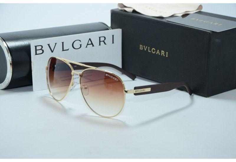 Солнцезащитные очки унисекс Bvlgari (brown-gold )