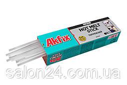 Клейові стрижні Akfix - 8 х 300 мм, прозорі (1 кг)