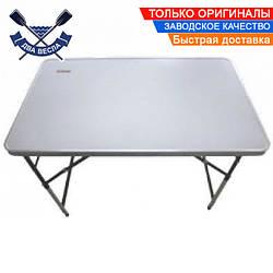 Складной стол TRF-006 Кемпинговый до 10 кг, 100х60х73/80/87/94 см, 3,9 кг, сталь, МДФ