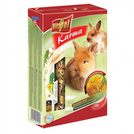 Корм Vitapol полнорационный, для кроликов, 500 г, фото 2