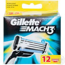 Сменные картриджи для бритья Gillette Mach 3 (12 шт) кассеты для бритья