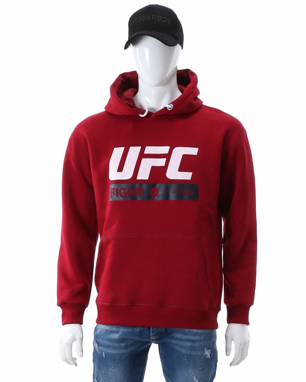 Худи осень-зима бордо UFC FIGHT с лого Т-2 BOR XL(Р) 20-471-203