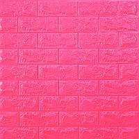 Самоклеющаяся декоративная 3D панель для стен под Кирпич темно розовай