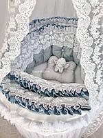 Бортики в овальную/круглую кроватку