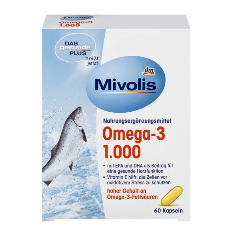 Комплекс Mivolis DM Омега 3 на базе рыбьего жира, 60 шт.