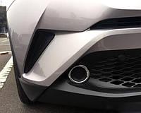 Toyota C-HR 2016+ накладки хром на передние противотуманные фары